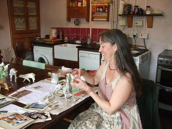 Papier mache artist handmade lives for Papier mache art for sale