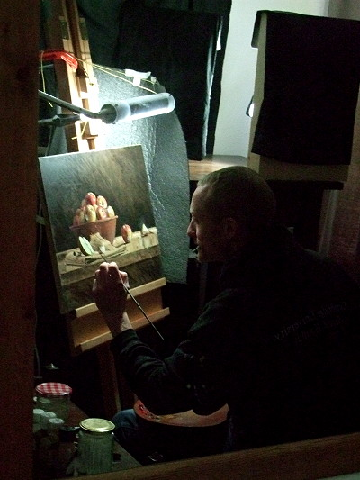 Benjamin Hope at his easel