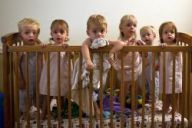 cot full of children